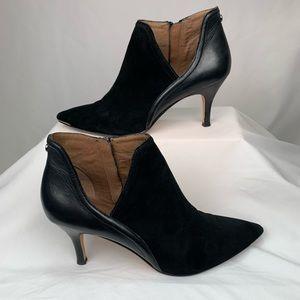 Donald J Pliner Black Suede Leather Booties Sz 9.5